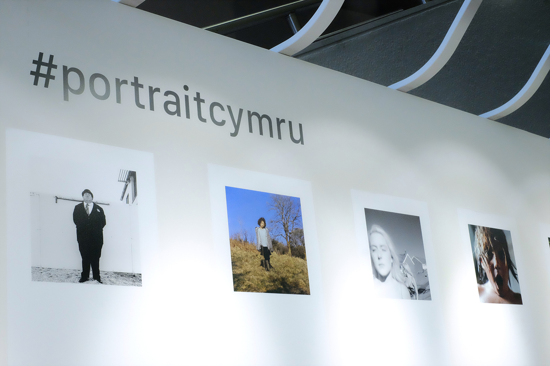 The #portraitcymru exhibition in Aberystwyth as part of The 2018 EYE International Photography Festival