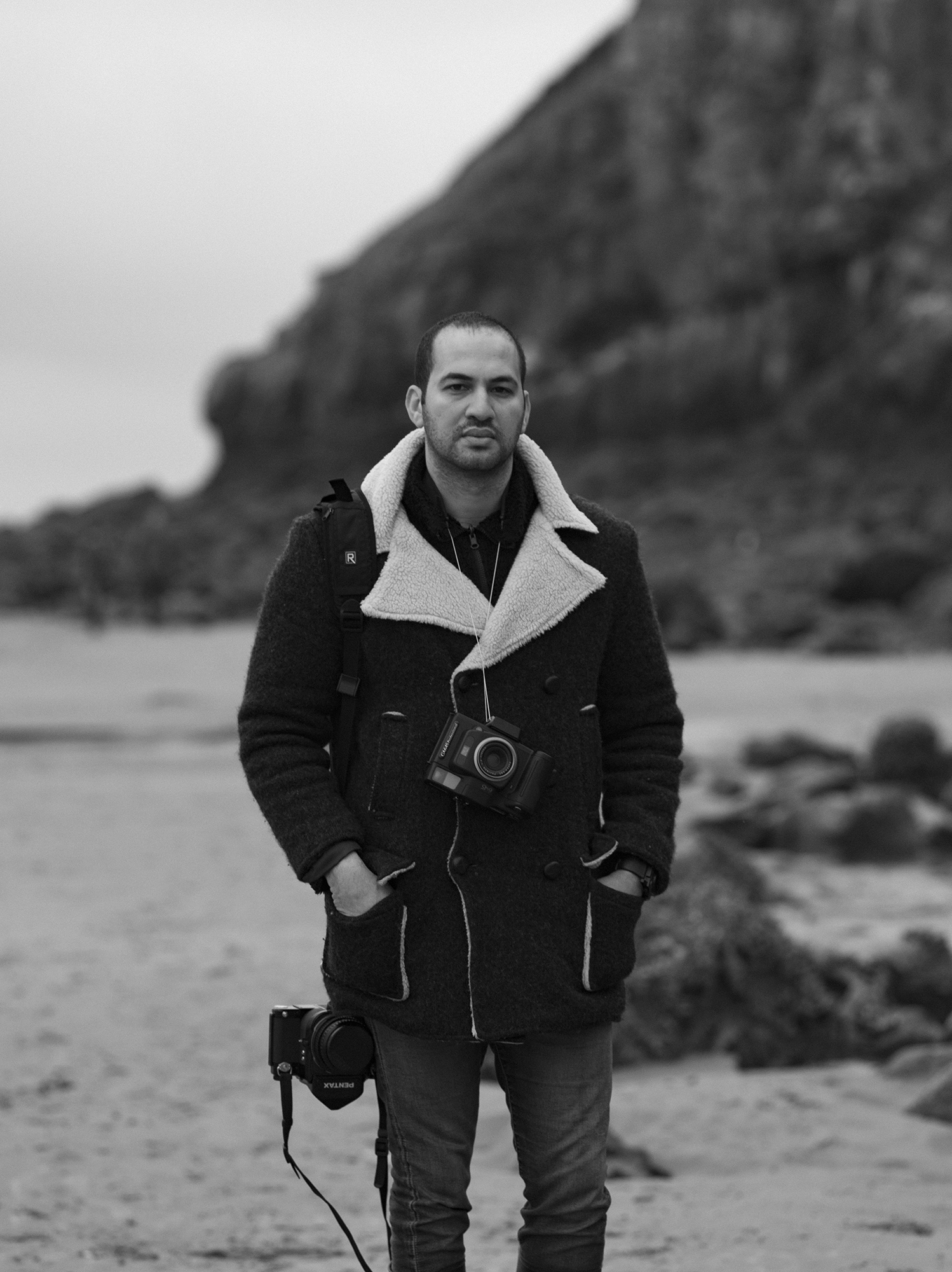 Photographer Mohamed Hassan in Pembrokeshire.