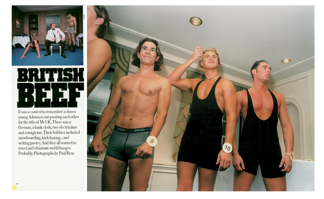 'British Beef' original spread in Sunday Times Magazine.