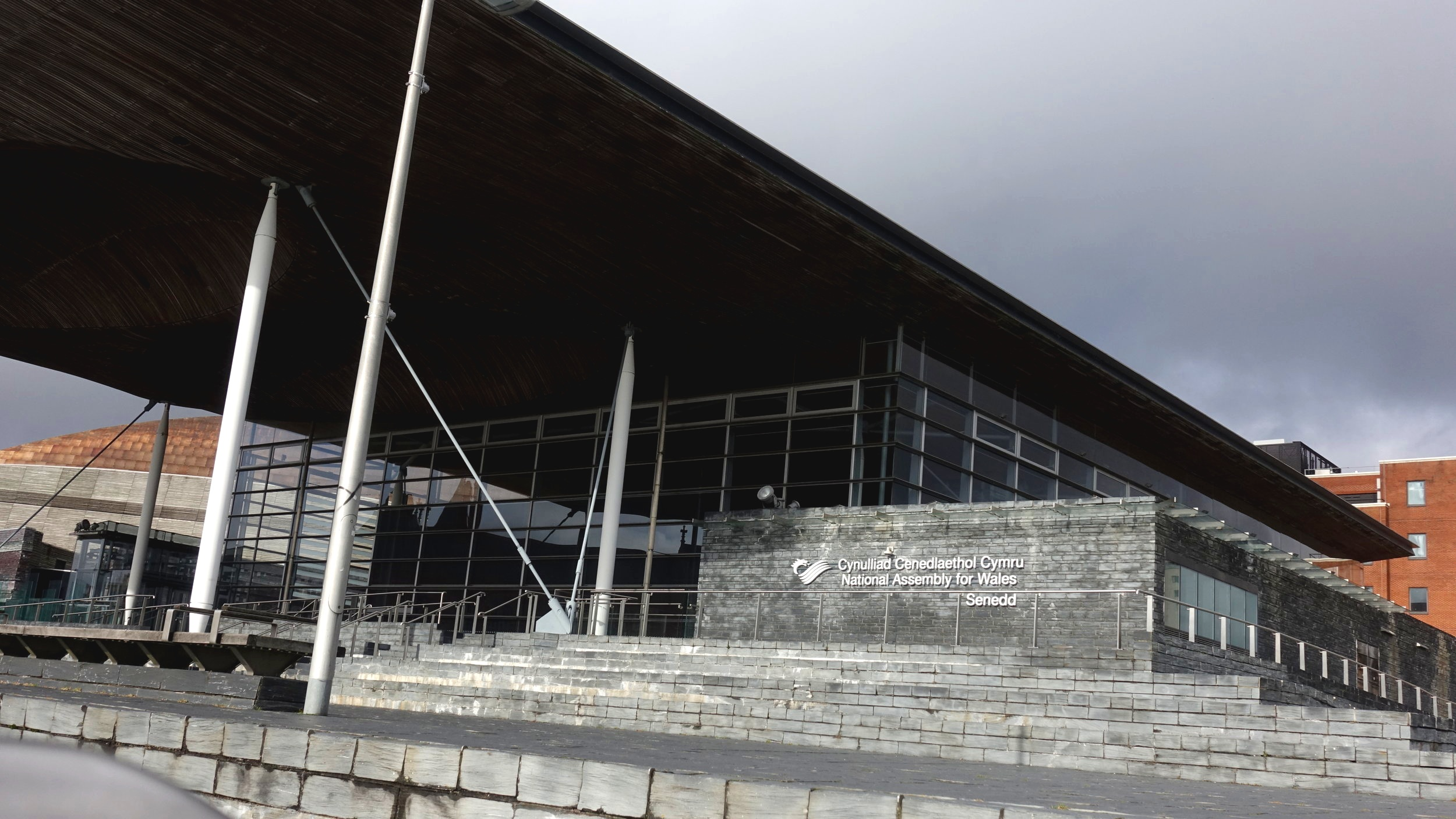 Exhibition venue - Senedd, Cardiff Bay. Image © Brian Carroll