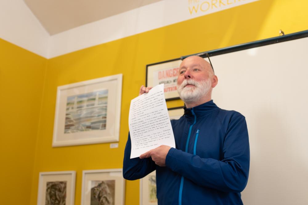 Paul Cabuts presenting his talk