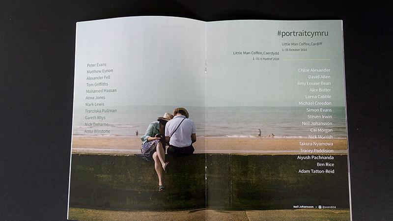 Ffoton's #portraitcymru zine used simple staple binding.