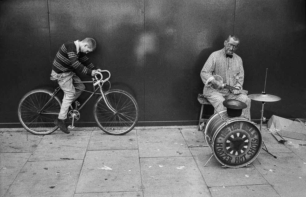 Copy of Street musician, Spitalfields, London, 1972