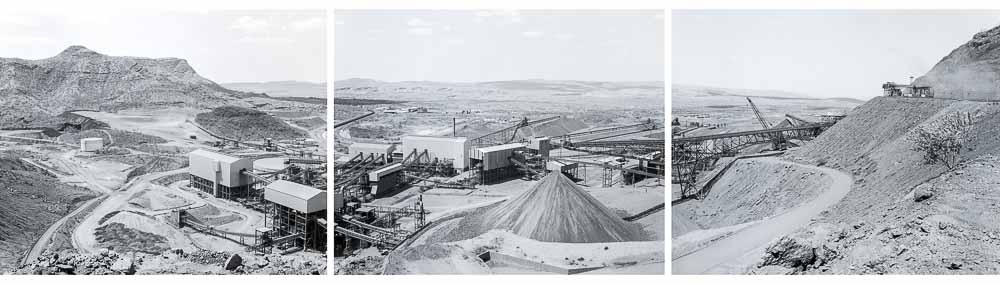 Mount Tom Price minesite, Western Australia, 1983 © Ron McCormick, pan54-735-736