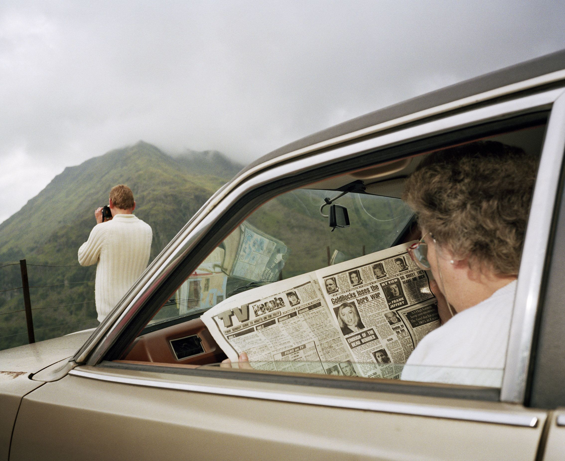 Snowdonia, Wales, 1989. From 'Home and Abroad'. © Martin Parr / Magnum Photos