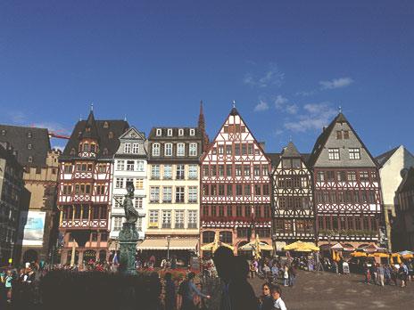 Römerberg: Praça do centro histórico medieval.