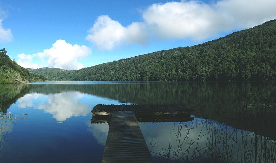 Lago Tinquilco (vista do Refúgio Tinquilco)