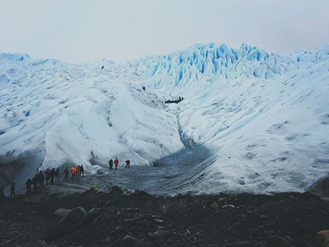 Ponto inicial do trekking sobre o Perito Moreno.