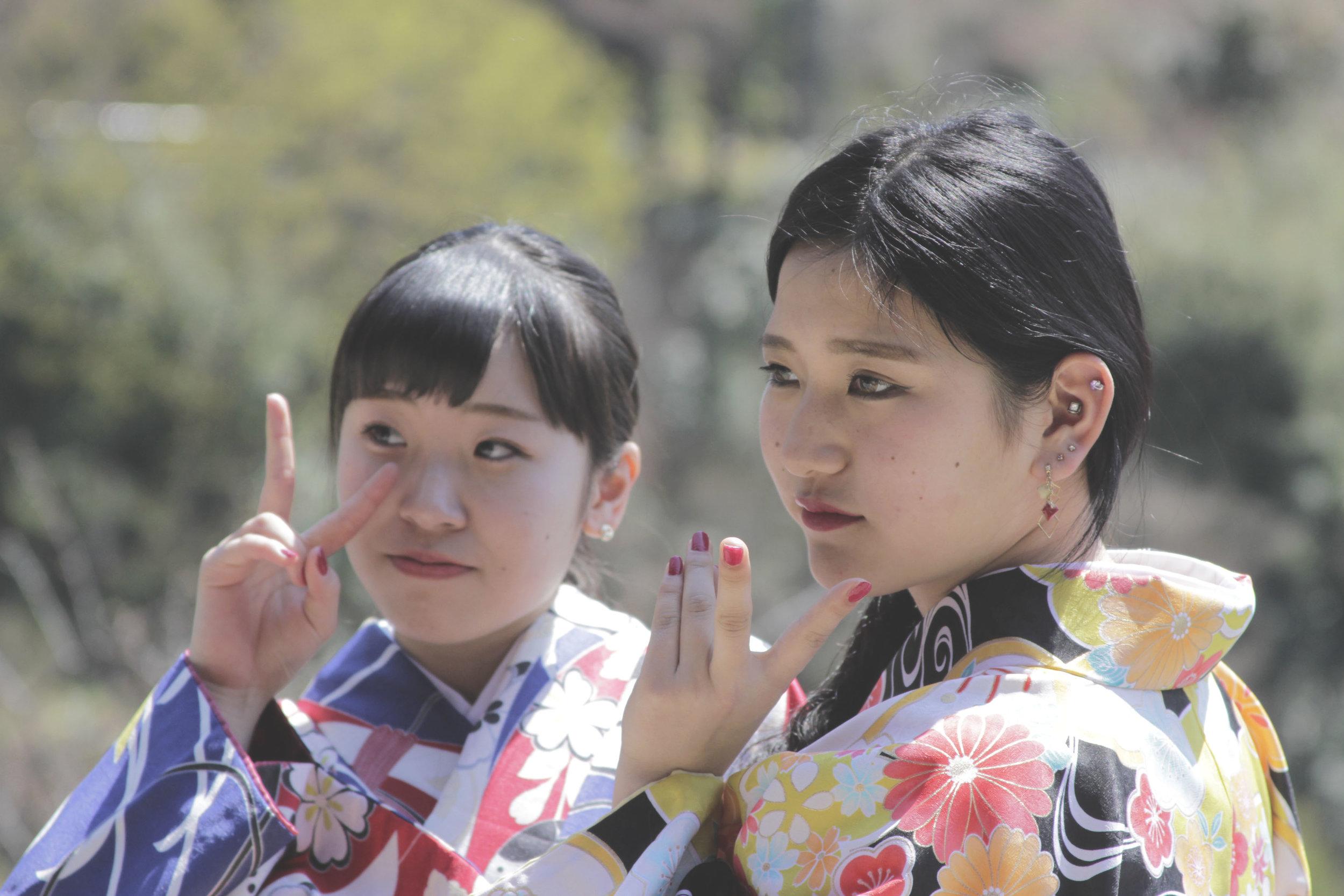 O aluguel de quimonos para passear pela cidade e tirar fotos é super normal, principalmente em Kyoto.