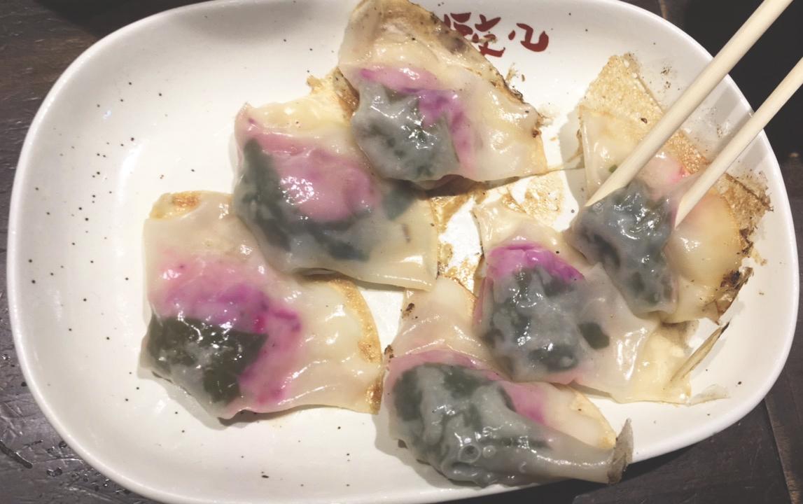 Uma das porções de gyozas do bar Chao Chao. Delicioso!! Pode acreditar!