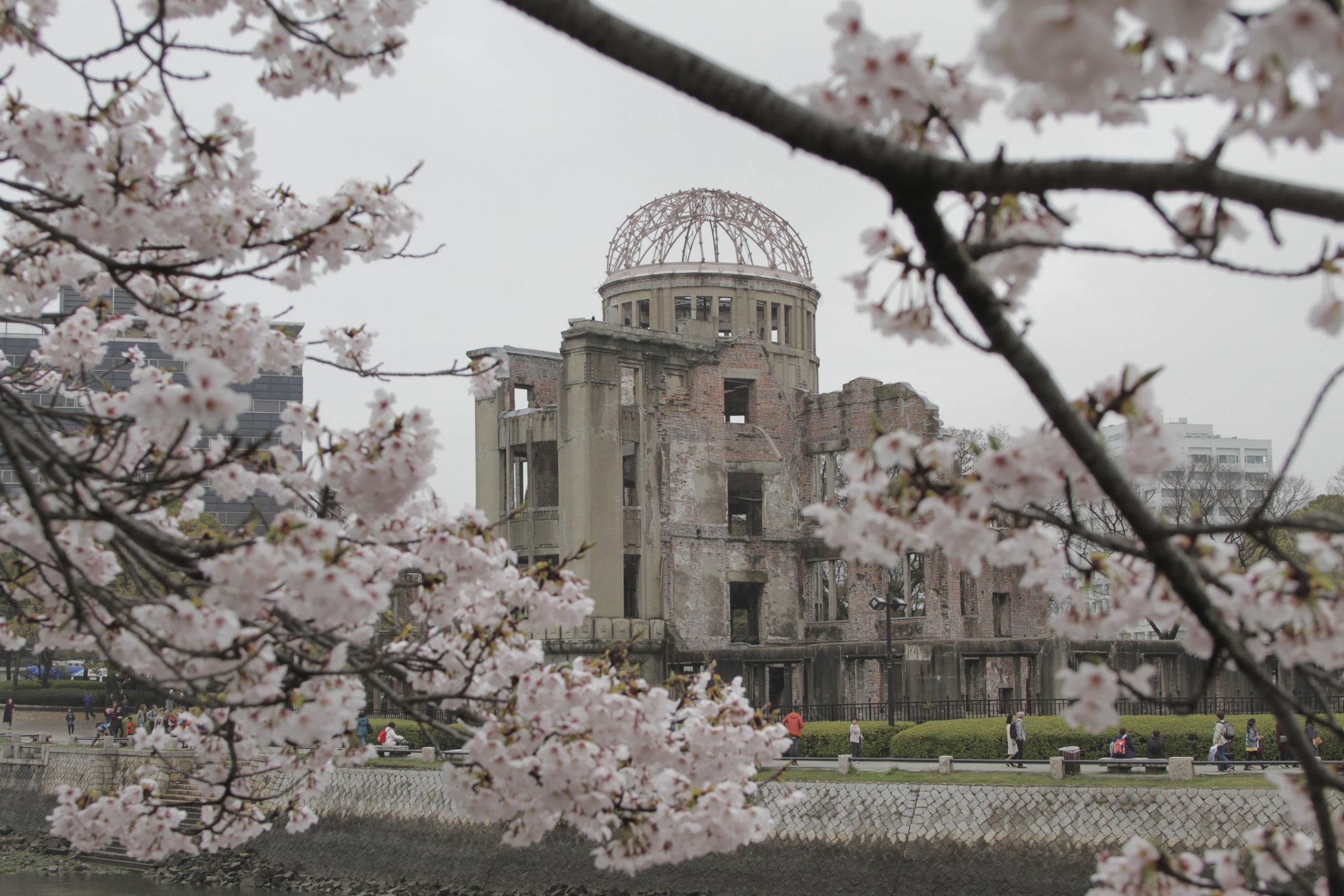 Antigo Centro de Promoção Industrial, prédio que fica bem próximo do epicentro onde ocorreu a explosão da bomba atômica, em agosto de 1945.