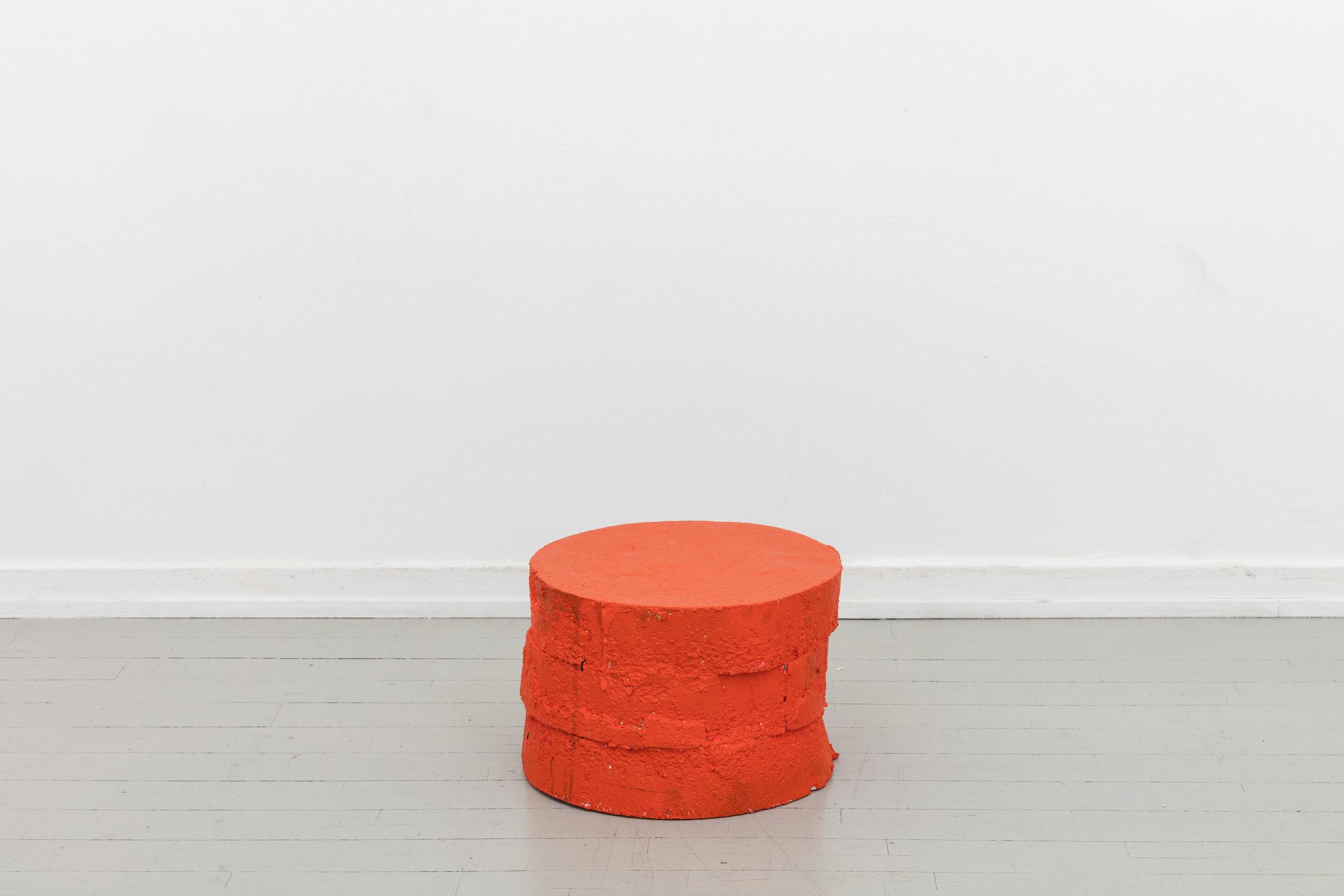 Soft Orange Table - 2017Polystyrene, paint, foam⌀ 45 cm, H: 30 cmPrice on request