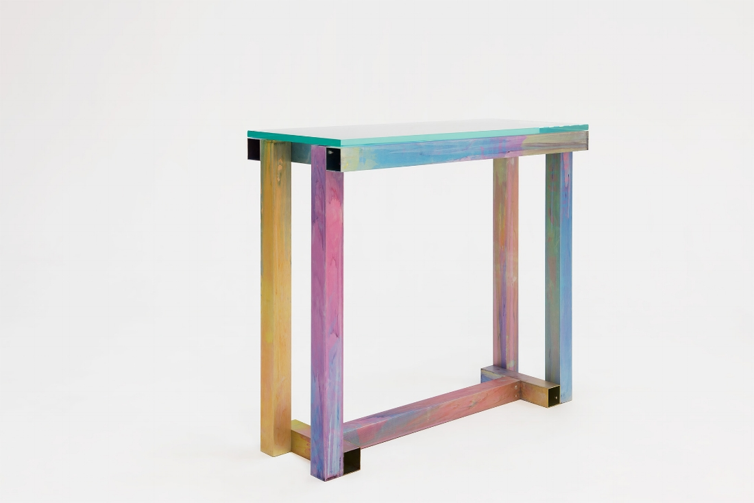 Anodised Aluminium Console  - Fredrik Paulsen Anodized Aluminium, Glass2017100 x 40 x 87 cmEdition of 20  Price on request