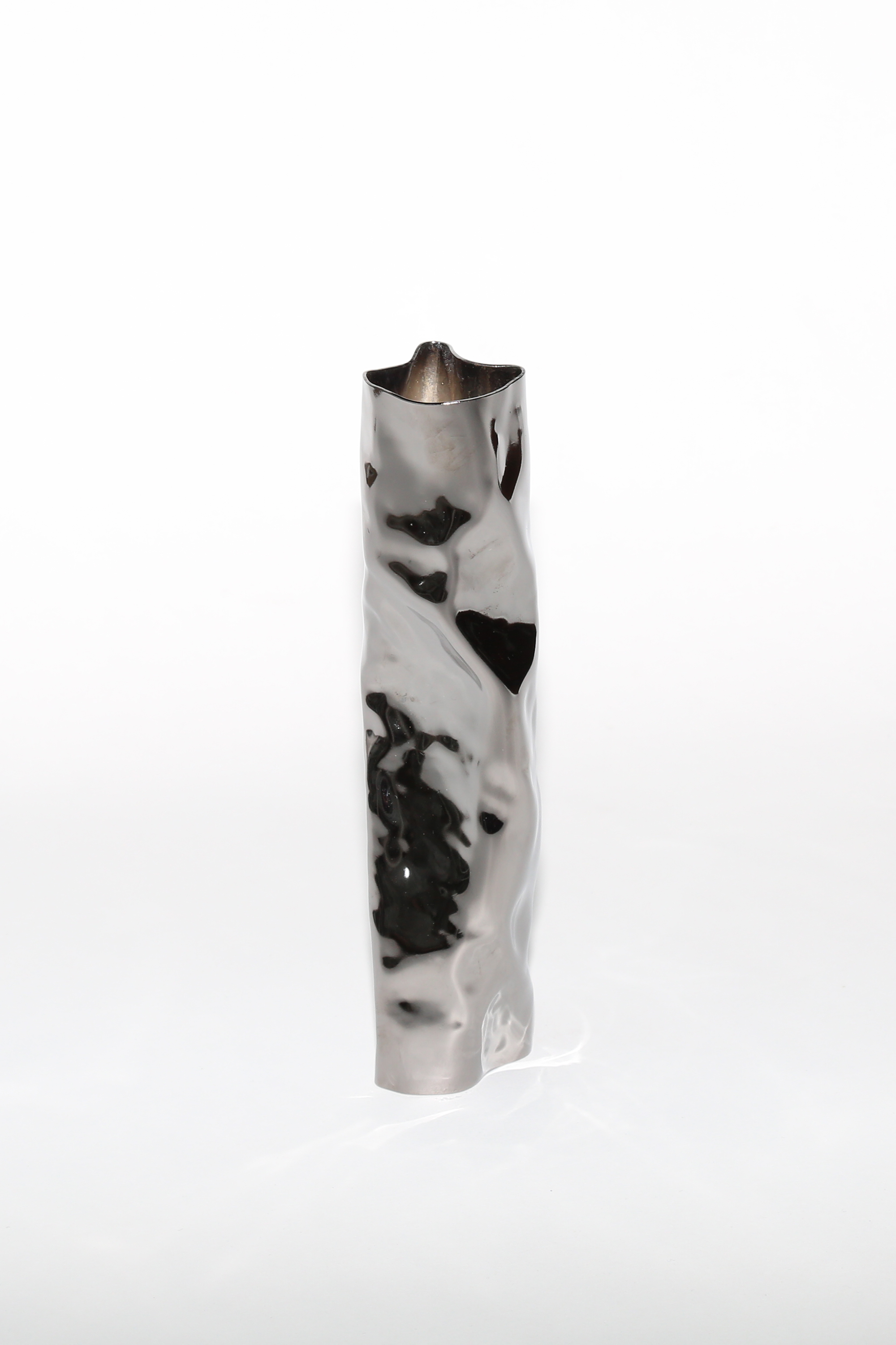 Table Top Vase  - Soft Baroque Black nickel plated brass20177cm x 7cm x 24cm0.5kg  Price on request