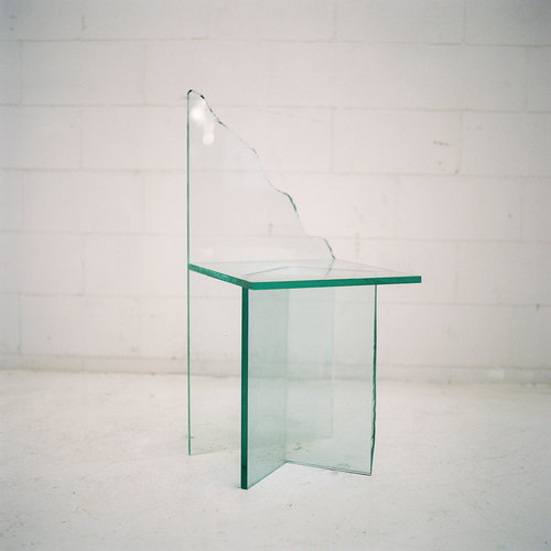Glass Chair 3 -  by Guillermo Santoma Materials: Glass Dimensions: 84,5 x 39,5 x 37,5 cm 2017 Price on Request