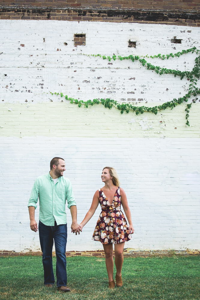 Finding this old warehouse near Noda, the art district in Charlotte might of been the score of the day for Alaina & David's engagement session. Love how these abandoned warehouses create some of the most beautiful photos.