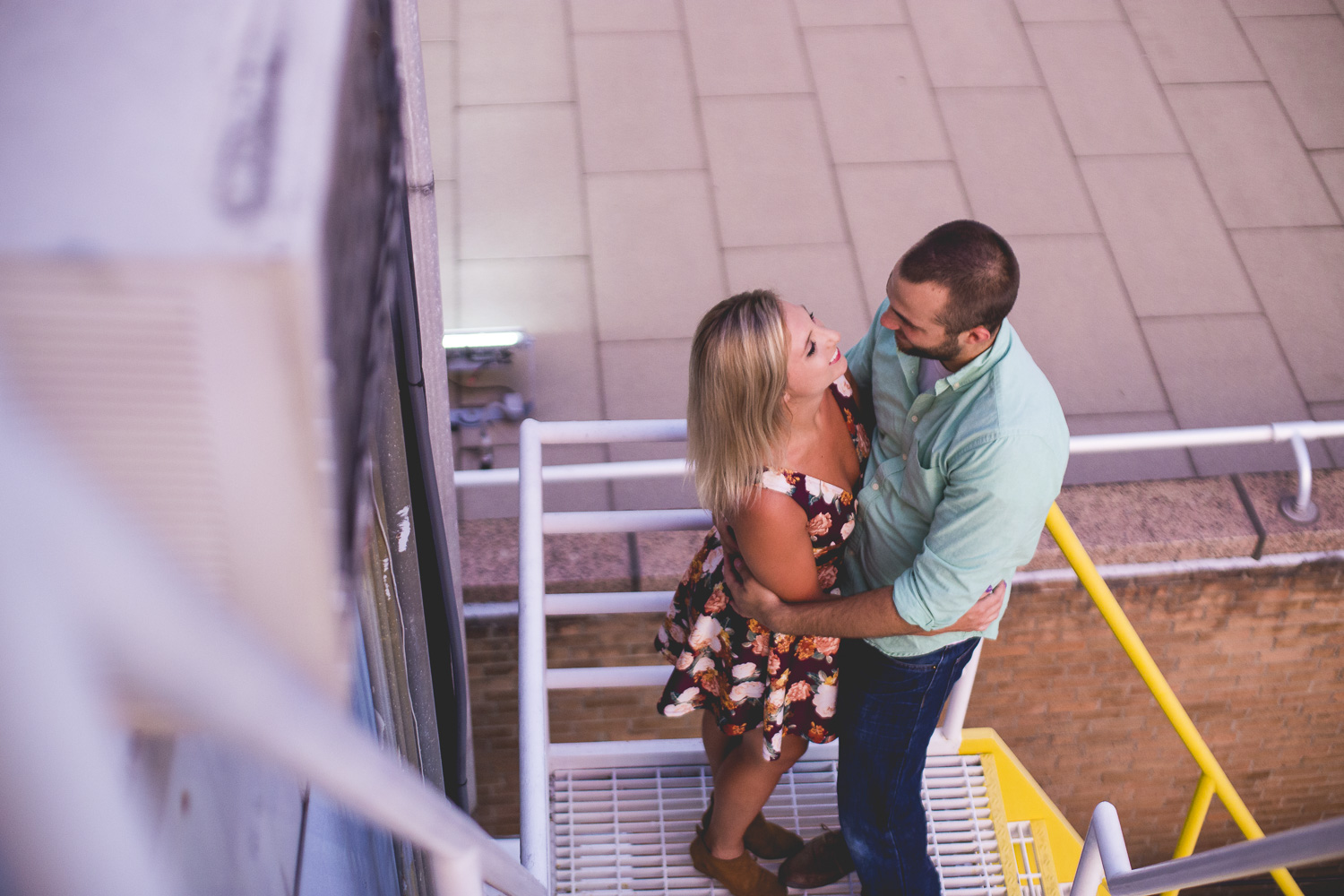 Uptown-Charlotte-Rooftop-Engagement-Photos