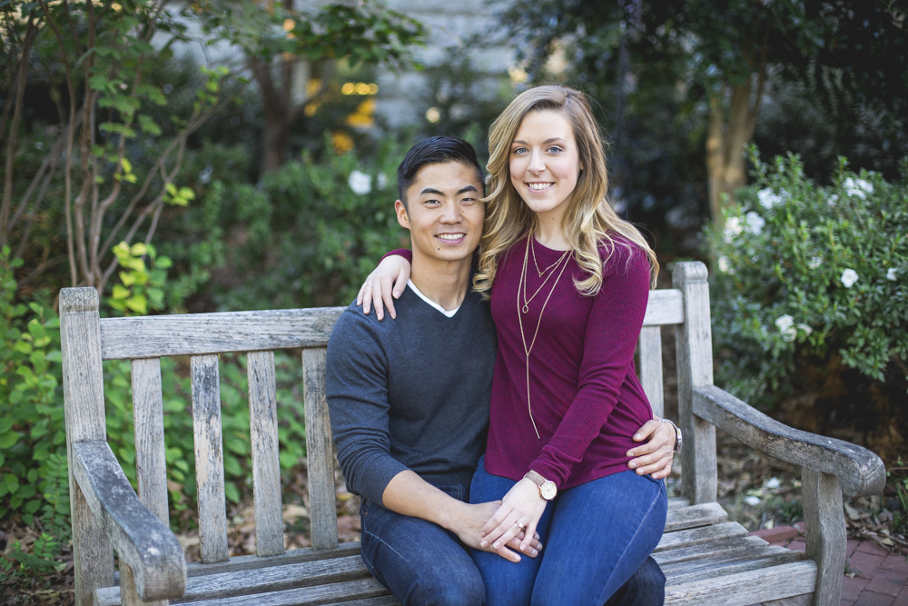 Couple-smiling-after-wedding-proposal-in-chapel-hill
