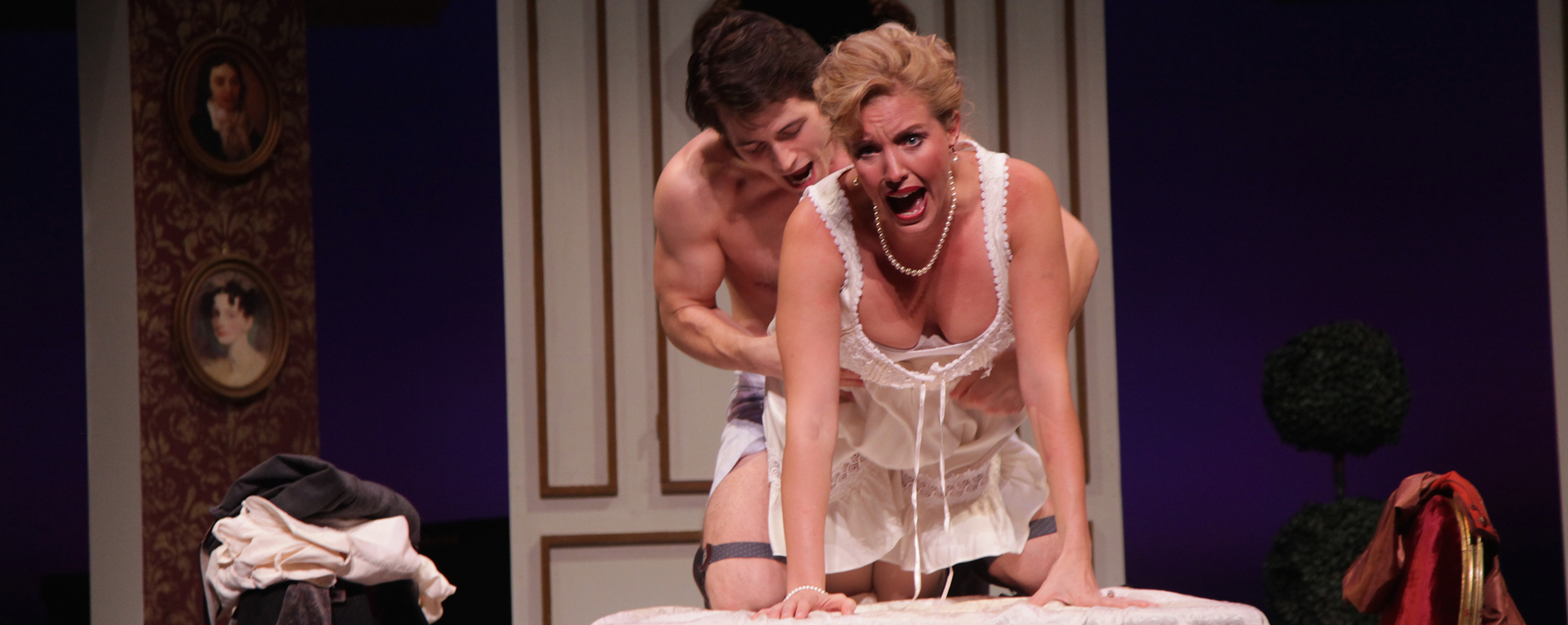 Geoff Knox and Summer Dawn Wallace in Tartuffe at Asolo Rep