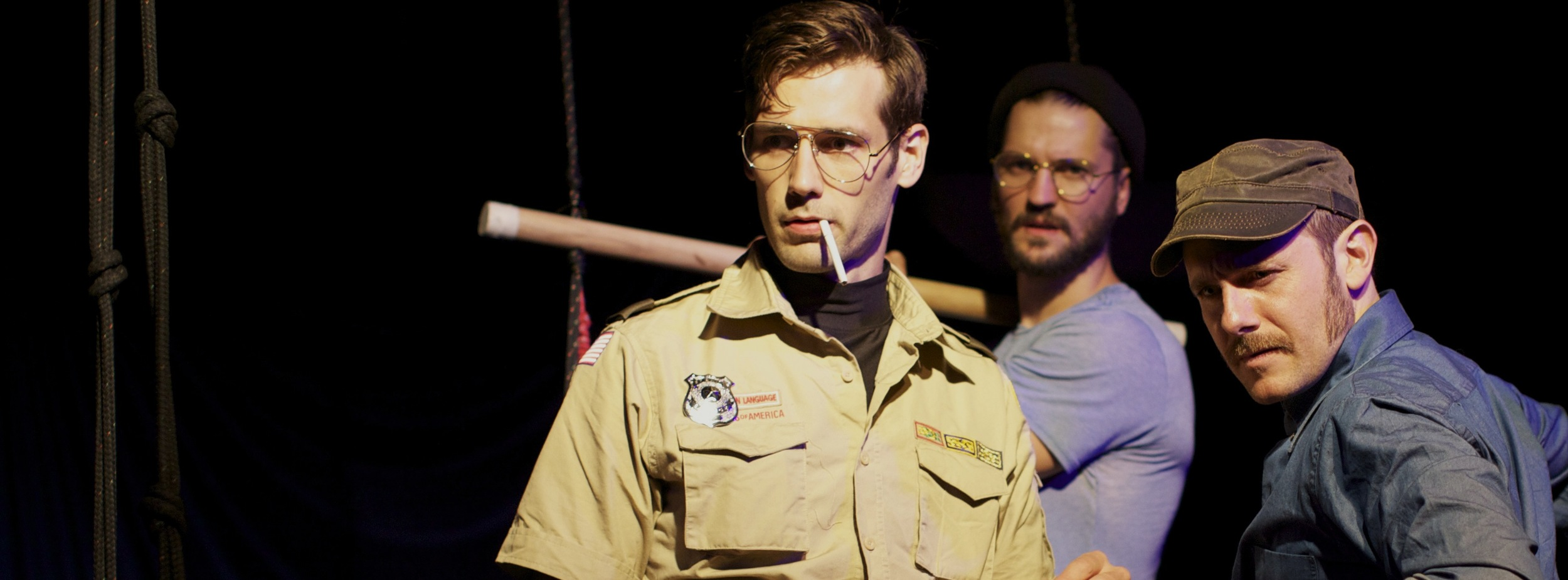 John Behlmann, Richard Thieriot and Dan Loeser in Not J.A.W.S. presented at The Muse by Fight or Flight