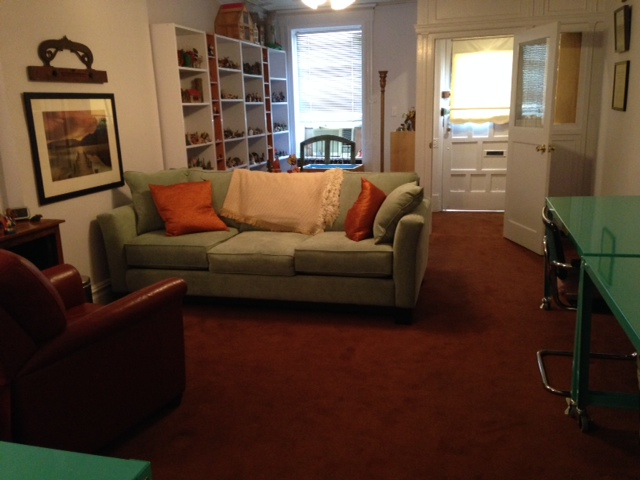 My Brooklyn office is comfortable, quiet and serene with a separate area for Jungian Sandplay and a discreet private entrance/exit onto 8th Ave.