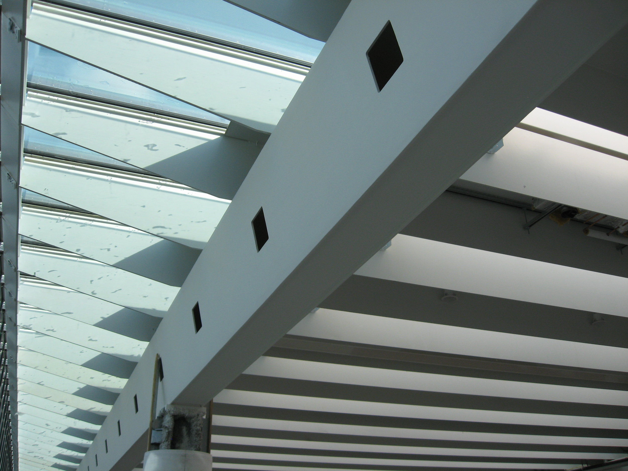 INTUMESCENT COATINGS - As an alternate to cementitious fireproofing, this finish product is used for exposed steel in public spaces such as lobbies, atriums or any area where the fireproofing is exposed and a superior look and finish is required.