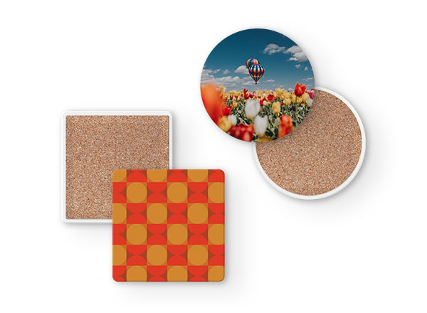 Ceramic Coaster - Remember the blue skies and the warm breeze as you settle down with your blanket and your favorite hot drink. Available in 2 Shapes: Round and Square.Guideline Retail Price $9.00