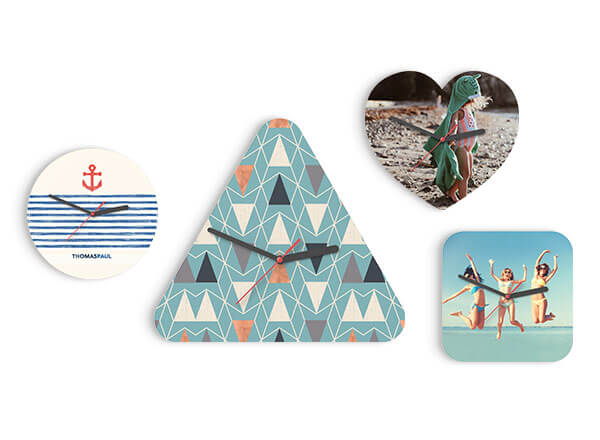 Wooden Clocks - Made from FSC approved materials from sustainable sources. Wall or Desk mounted. Available in 4 Shapes: Heart, Triangular, Square or & Circle.Guideline Retail Price $15.60
