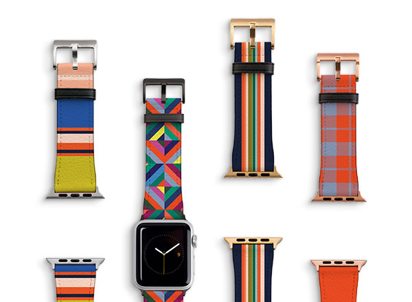 Vegan Leather Watch Straps - Our watch straps fit all series of Apple Watches and are made using our faux leather. Available in 4 finishes: Black, Silver, Gold, Rose Gold.Guideline Retail Price $50.00