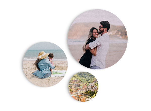Circular Canvas Wall Art - Customizable Canvas Board. Unique Cork Floating Mount System. Available in 3 Sizes: 200mm diameter, 300mm diameter, 400mm diameter.Guideline Retail Price from $25.00