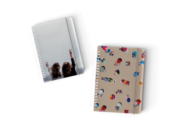 Spiral Notepads - Optional Zipper Bag (PVC). Customizable Cover (front and back). Grey Elastic Fastening. Dot Grid Paper. Presented in Drawstring Muslin Bag. Available in 2 Sizes: 148x210mm, 125x176mm.Guideline Retail Price $25.50