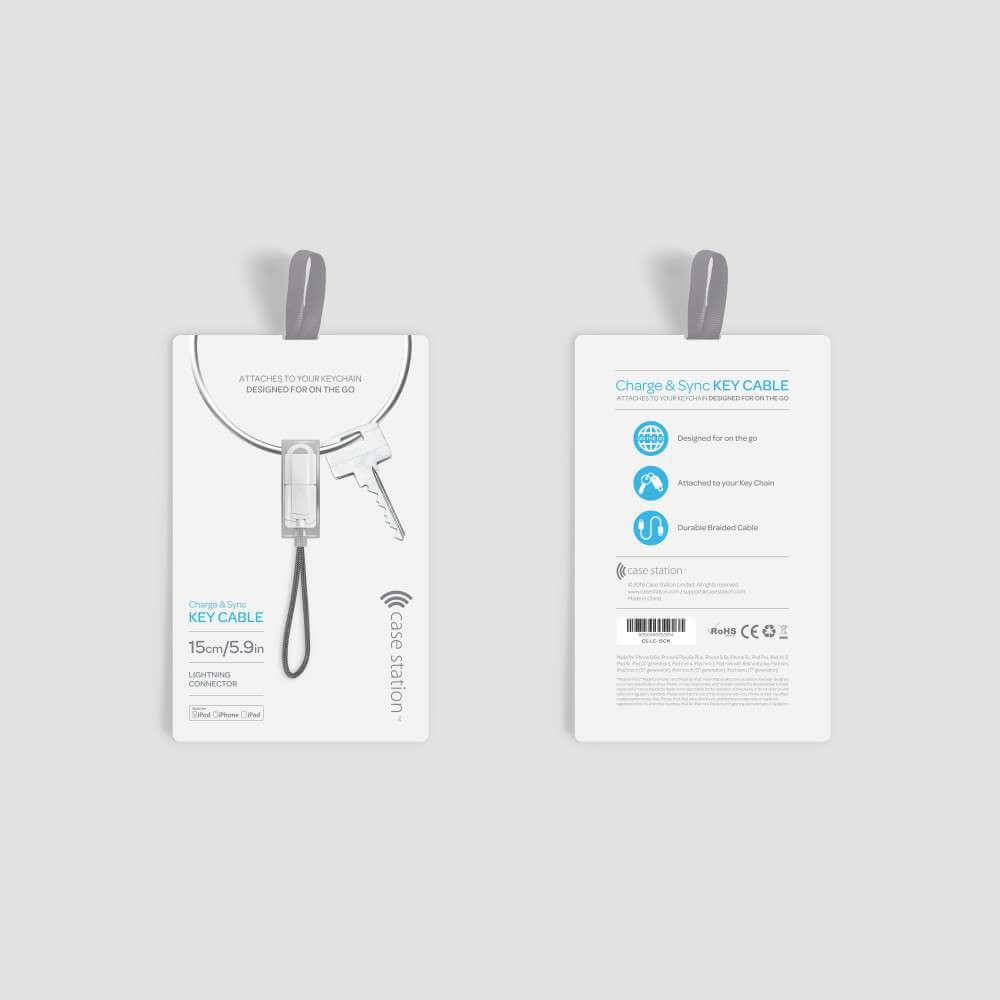 Lightning Cable (15cm) - The Charge & Sync Key Cable is designed for on the go. The convenient 15cm/5.9in durable braided cable attaches to your key chain and makes charging and syncing easy. For Apple Devices.Guideline Retail Price $26.40