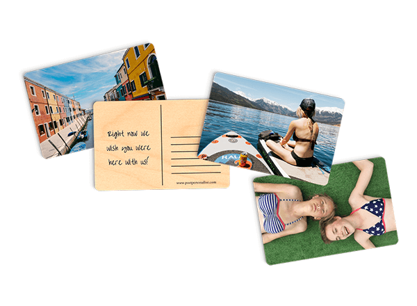 Wooden Postcard - Wherever you are, whatever the occasion, send them a personalized message on one of our responsibly sourced wooden postcards.Guideline Retail Price $7.80