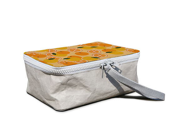 Lunch Bag (Paper) - It's made using our new durable paper, don't worry though it's washable! The material we use is sourced from FSC forests and is completely recyclable. Reduce the amount of packaging and waste you produce to reduce your carbon footprint.Guideline Retail Price $45.00