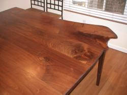 Walnut Table  With: 6'                           Length: 6'