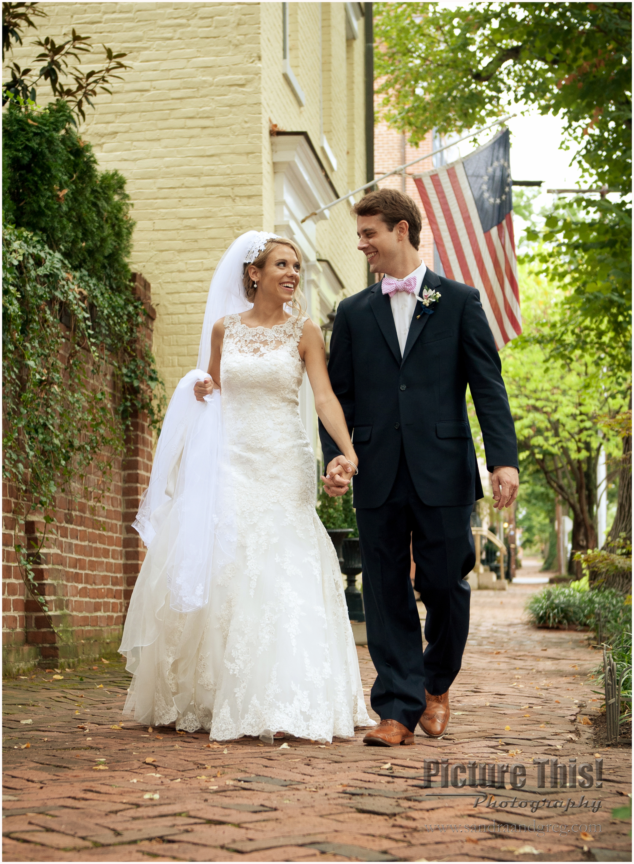 Brianna and Coleman in Old Town Alexandria, Virginia