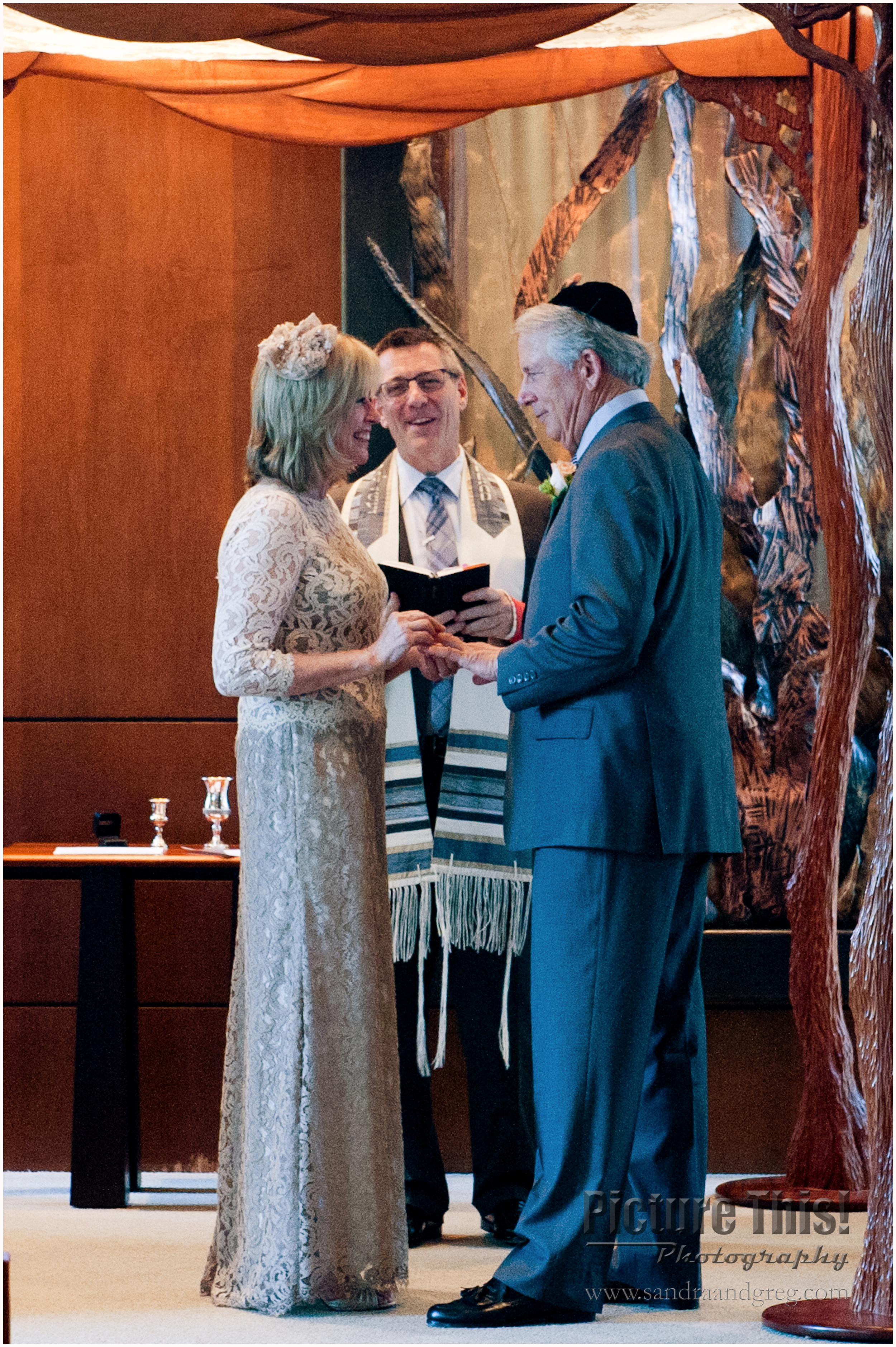 Brenda and Vince at Temple Sinai