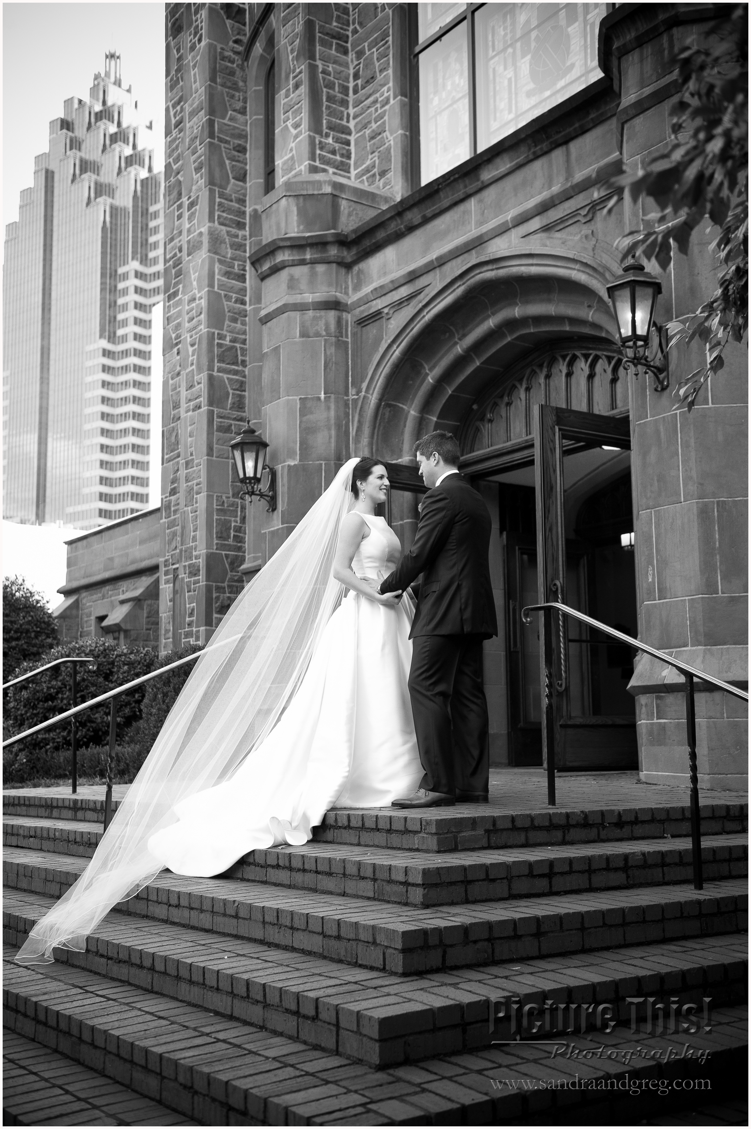 Chelsea and Dan at First Presbyterian Church of Atlanta