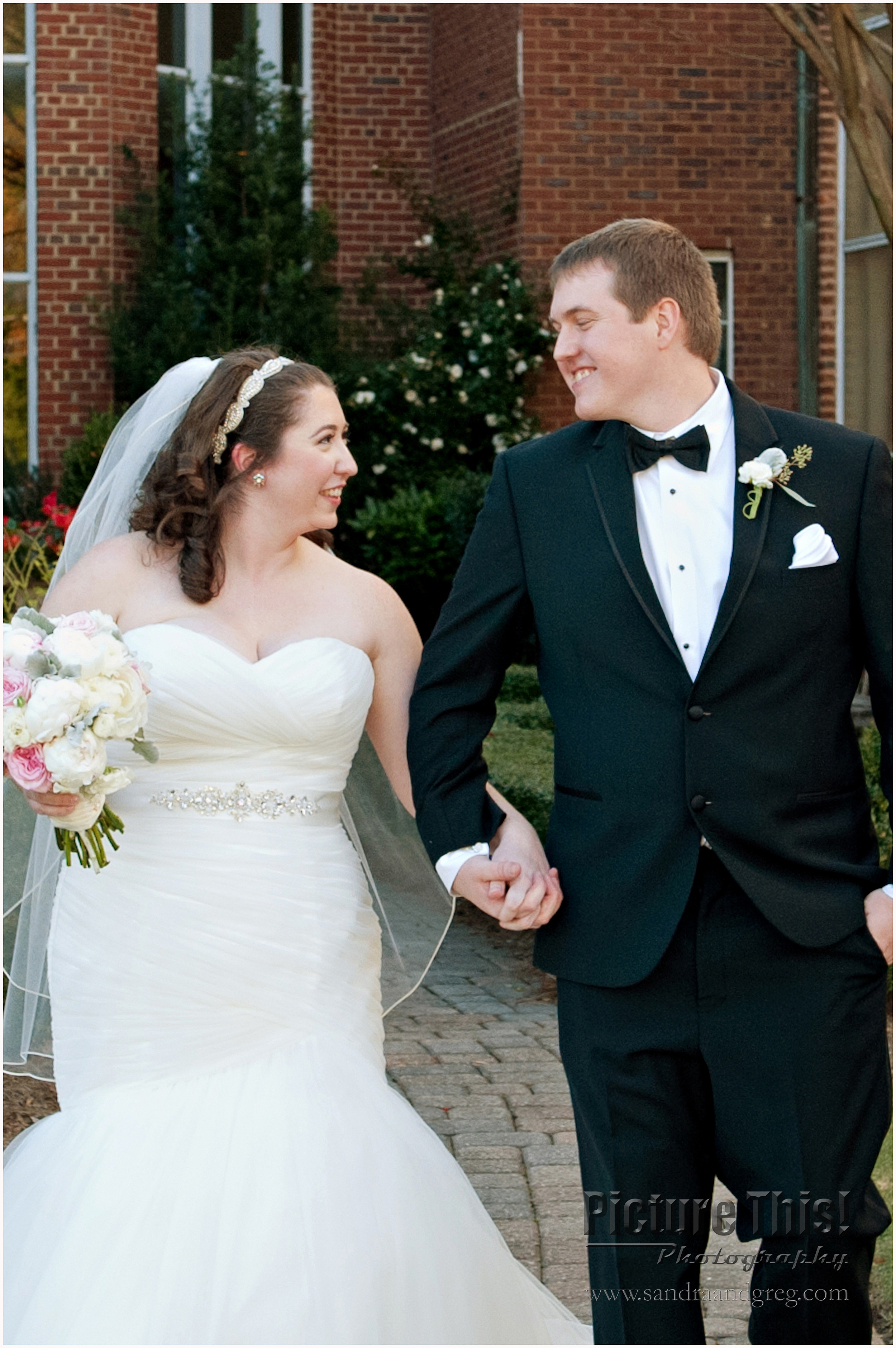 Lauren and Kyle at First Presbyterian Church of Marietta