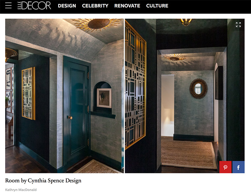 One of the features on Cynthia Spence Design's 2016 SF Decorator Showcase room.