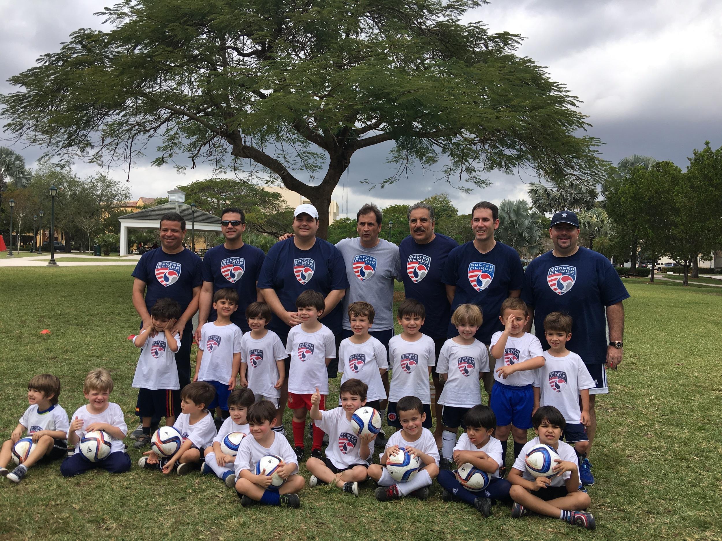 Fernando Fiore visits Soccer Clique U5 Group