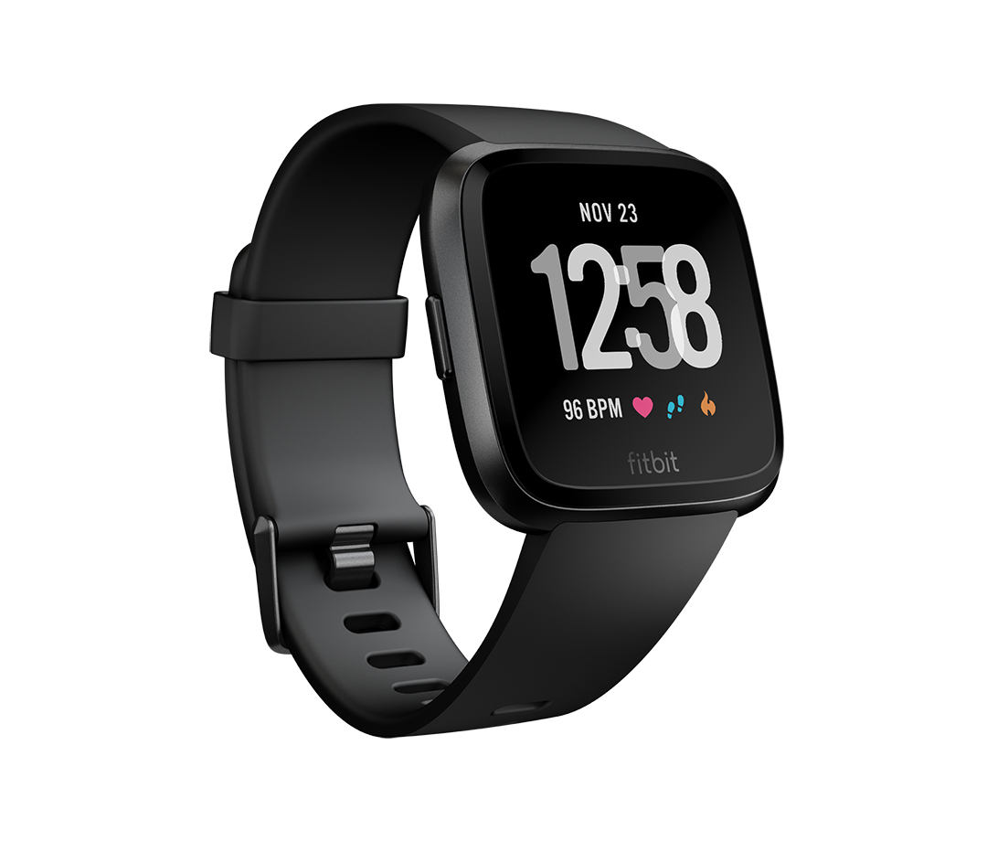Do you need help with your  New Year's Resolution losing that extra wight? We have something that can help. The FitBit Versa is a smartwatch, featuring everything you've loved about Fitbit activity trackers — tracking activity, steps and your sleep. Once you download the Fitbit app to your smartphone, your Versa is tethered to your it via Bluetooth, allowing you do to those great smartwatch everyday activity, like see texts and taking calls.  While it's wider than the Apple Watch, it's decidedly thinner and lighter, though functions very similarly to the Apple Watch in that with the turn of the wrist activating the screen so you can see the time, along side button clicks and swipes to check your activity, as well as access apps, which range from Starbucks to Amazon Alexa, and a growing number in between.   Fitbit Versa  - $199.95