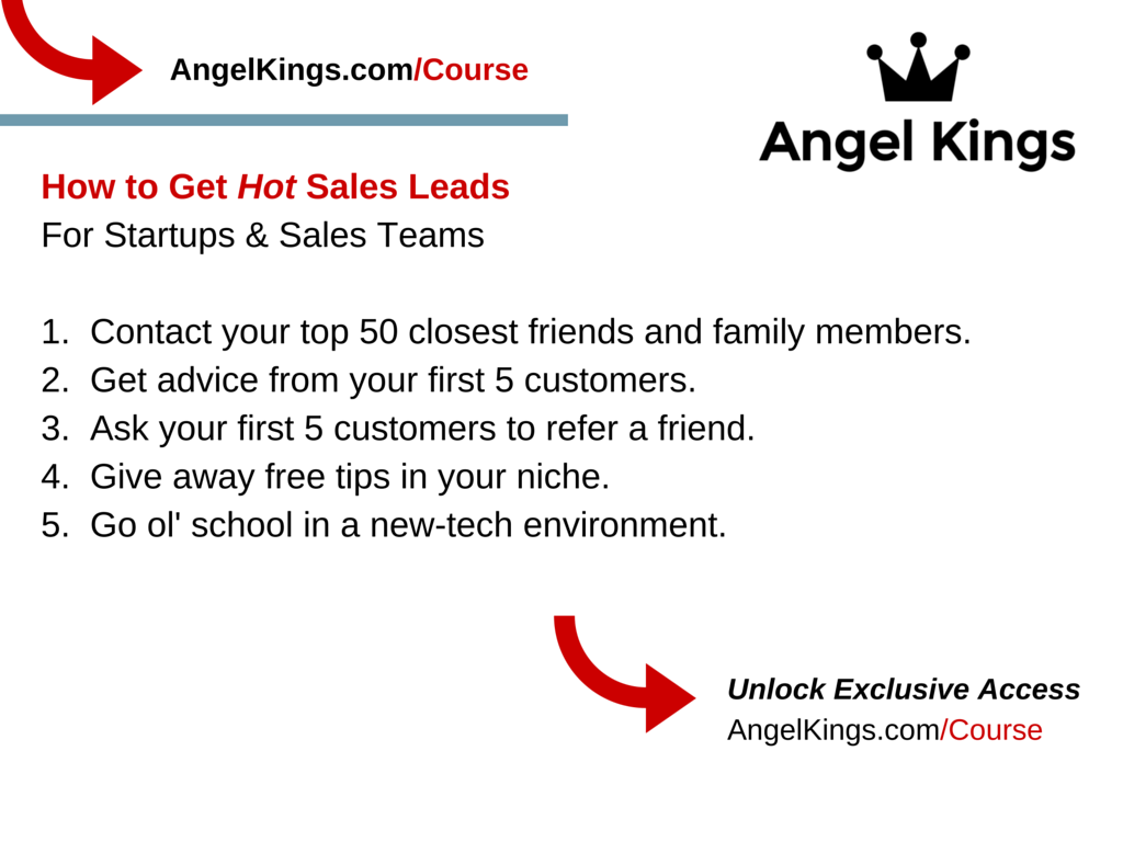What are the top 5 strategies for startups to get sales leads?