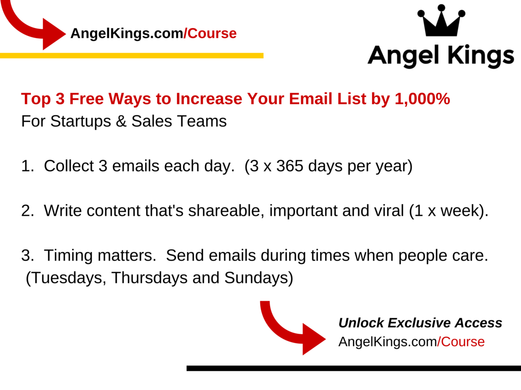 What are some of the best ways to organically grow your email list?