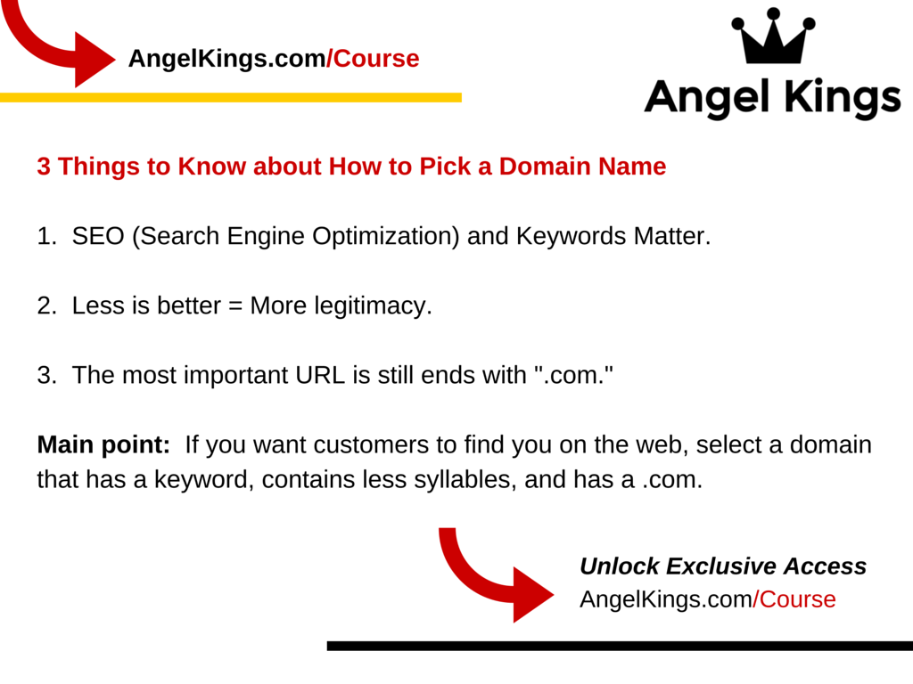What do you need to know when picking a domain name?
