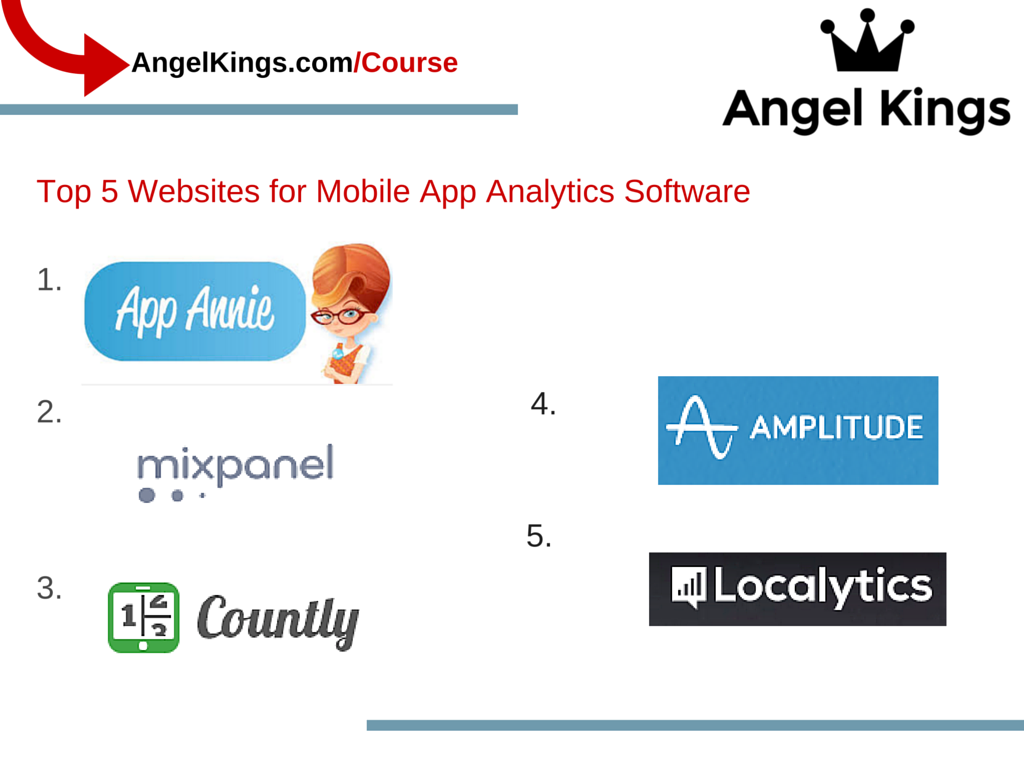 Here are the top 5 websites for Mobile App Analytics Software.