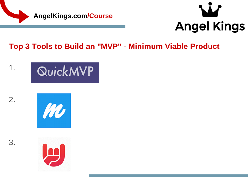 Use These 3 Tools To Build Your MVP.