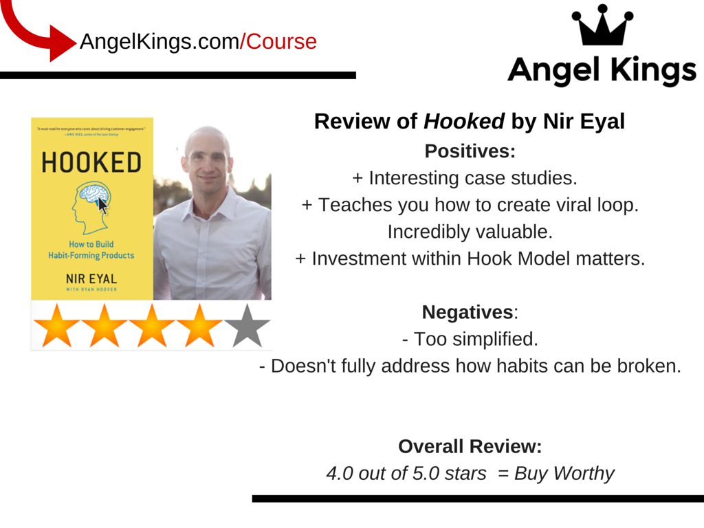 Comprehensive review of Nir Eyal's books on entrepreneurship and startups by AngelKings.com.
