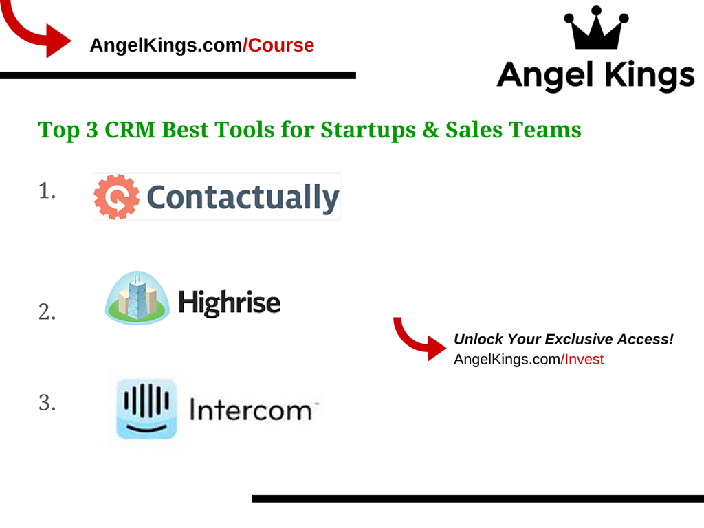 Here are the best CRM software tools for startups (by AngelKings.com)