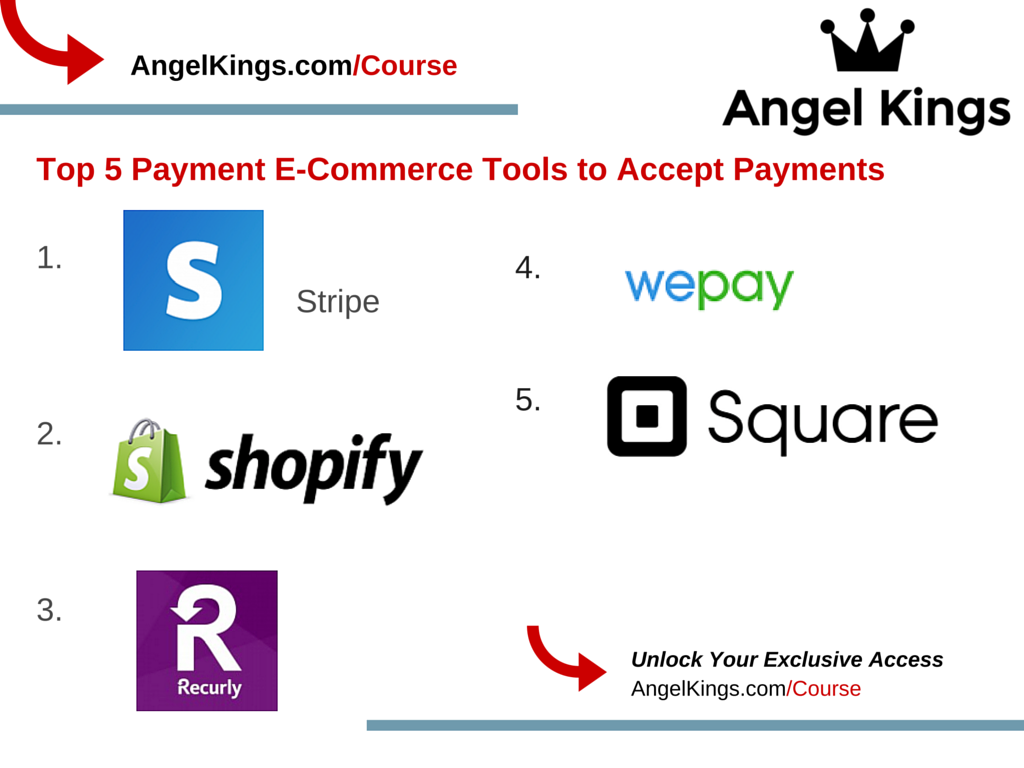 Here are the top 5 E-Commerce Tools To Accept Payments!